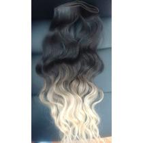 Cabelo Humano Com Ombré Hair Tela 70 Gr 50 Cm-mega Hair