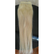 Cabelo Humano Loiro Liso Tela 55 Cm 100 Gr - Mega Hair