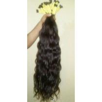 Cabelo Humano Natural P/ Mega Hair Leve Ondas 75 Cm 250 Gr