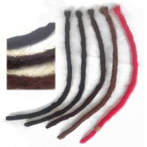 Dread Sintetico Vermelho Ou Preto 1 Unidade De 50cm