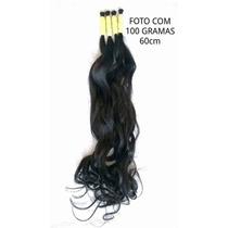 Cabelo Humano Liso Ondulado De 60cm 100 Gramas P/ Mega Hair.
