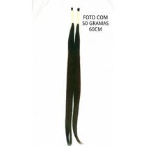Cabelo Humano Liso Castanho Natural De 60cm 50 Gramas.