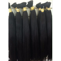 Aplique-cabelo Humano -megahair-liso Natural - 60cm -50 Gr