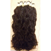Cabelo Humano P/mega Hair Ou Apliques Leve Ondas 70 Cm 100gr