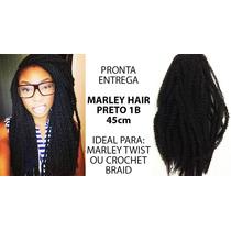 Cabelo Fibra Sintética Marley Hair Para Marley Twist Cor 1b
