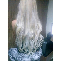 Aplique Tic Tac Hair Cabelo Fibra Japonesa Branco 65 Cm