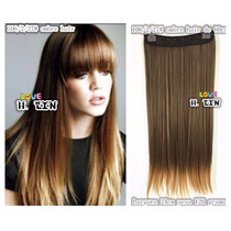 Alongamento Aplique Tictac Californiana Ombré Hair Liso 60cm