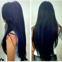 Aplique Tic Tac Hair Cabelo Fibra Japonesa Preto 60 A 82cm