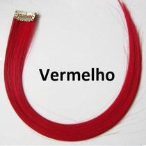 Mecha Colorida Vermelha Lisa / 50 Cm / 1 Unidade!!!