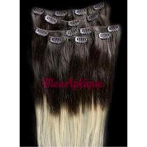 Aplique Tic Tac Humano Remy Ombre Hair Loiro Pronta Entrega