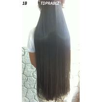 Aplique De Cabelo Hair Preto 70cm Liso