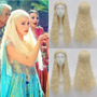 Nova Peruca Cosplay Loira Daenerys Targaryen Game Of Thrones