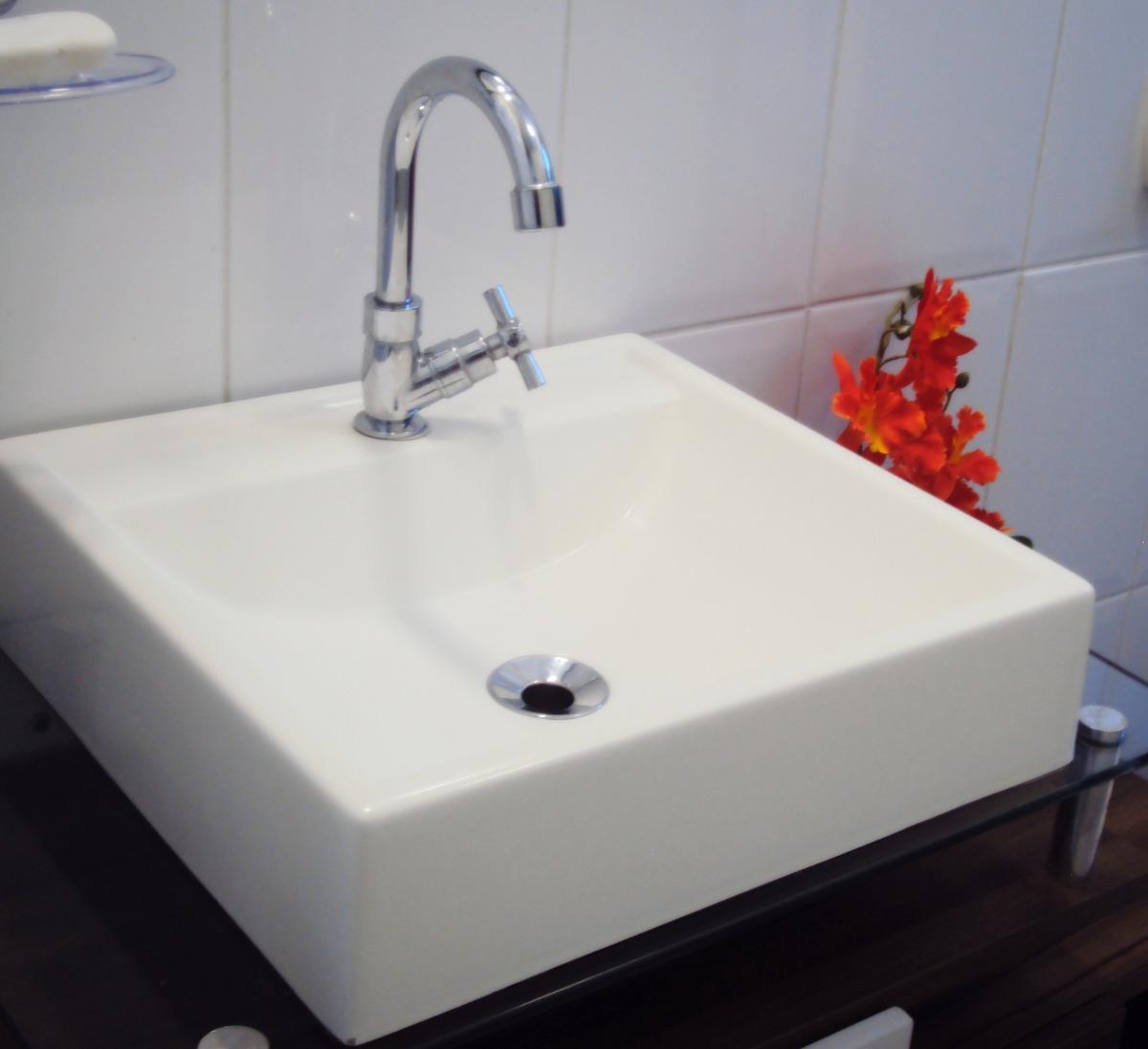Pia Cuba Sobrepor Para Banheiro  R$ 99,90 no MercadoLivre # Cuba De Banheiro Sobrepor