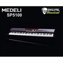Piano Digital Medeli Sp5100 / 88 Teclas Ação Tipo Martelo