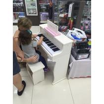 Piano Renopia Elétrico Para Crianças Com Banquinho Pronta En
