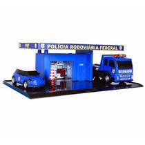 Miniatura Posto Policia Rodoviaria Federal Maquete Diorama