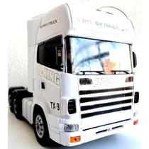 Caminhao Scania Com Controle Remoto Trucado Rico Em Detalhes