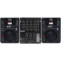 Mesa De Dj 2 Cdjs + 1 Mixer 2 Canais Kit Dj Profissional