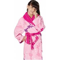 Roupão Infantil Fleece Estampado Barbie Butterfly Da Lepper