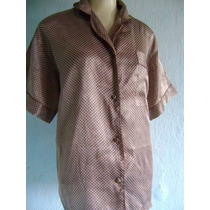 Camisa De Pijama Em Cetim Tam P