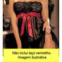 Camisola Sensual Sexy Lingerie Transparente Com Renda +tanga