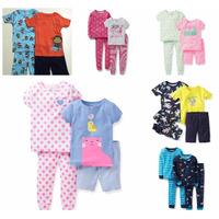 Pijama Carters Masculino E Feminino 4 Peças - Pronta Entrega
