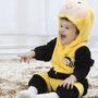 Pijama Fantasia Macacão Bebê Plush Abelha Bee Animal Capuz