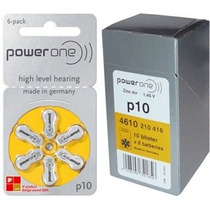 60 Pilhas Para Aparelhos Auditivos Power One 10