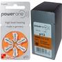 60 Pilhas Para Aparelhos Auditivos Power One 13