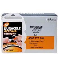 60 Pilhas Para Aparelhos Auditivos Duracell P13