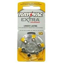 60 Pilhas Para Aparelhos Auditivos Rayovac Extra 10