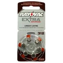 60 Pilhas Para Aparelhos Auditivos Rayovac Extra 312