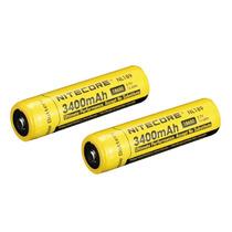 Bateria Nitecore Nl189 18650 3400 Mah 3,7v 2 Unidades