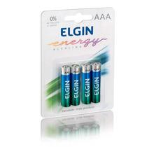 Kit 10 Blister C/ 40 Unid Pilha Alcalina Aaa Elgin Energy