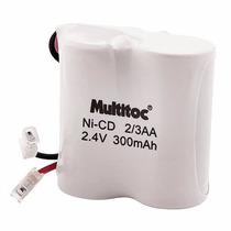 Bateria Recarregável P/telefone S/fio 2,4v 300mah Multitoc