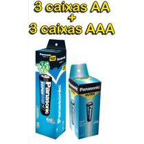 Pilha Panasonic 3x Aa + 3x Aaa. 300 Pilhas!