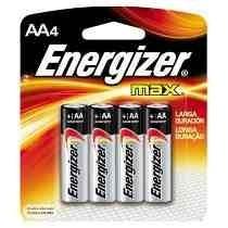 Pilha Energizer Max Aa4 Alcalina Caixa C/ 10 Unid 40 Pilhas