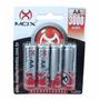 Pilha Bateria Recarregável Aa 3000mah 3000 Mah Mox Original