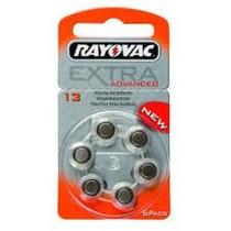 60 Pilhas Para Aparelhos Auditivos Rayovac Extra 13