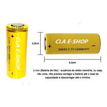 Bateria 26650 3,7v 16000mah Lanterna Tatica Recarregavel