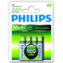 Pilha/bateria Philips Aaa Recarregável 900mah Ni-mh - C/ 4