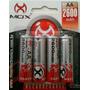 Pilha Bateria Recarregável Aa Mox 2600mah Pacote Com 4 Un.
