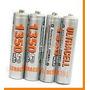 4 Pilha Aaa Recarregável 1350mah 1,2v Nimh Bateria Panasonic
