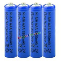 4 Pilha Aaa Recarregável 1800mah 1,2v Nimh Bateria Panasonic