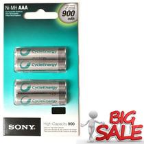 4 Pilhas Sony A A A Recarregável Sony 900mah - Lacrado