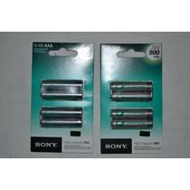 Pilha Palito Aaa Sony Recarregável 900mah Original C/4 Uni.