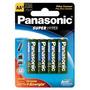 Pilha Panasonic Aa Comum Com 4 Unidades