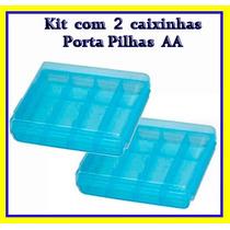 Case Para 4 Pilhas Aa (kit Com 2 Caixinhas)