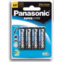 Pilha Panasonic Aa Embalagem Com 4 Pilhas A A Super Hyper