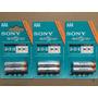 2 Pilhas Aaa Recarregável Sony 4300mah -nh-aaa-b2k